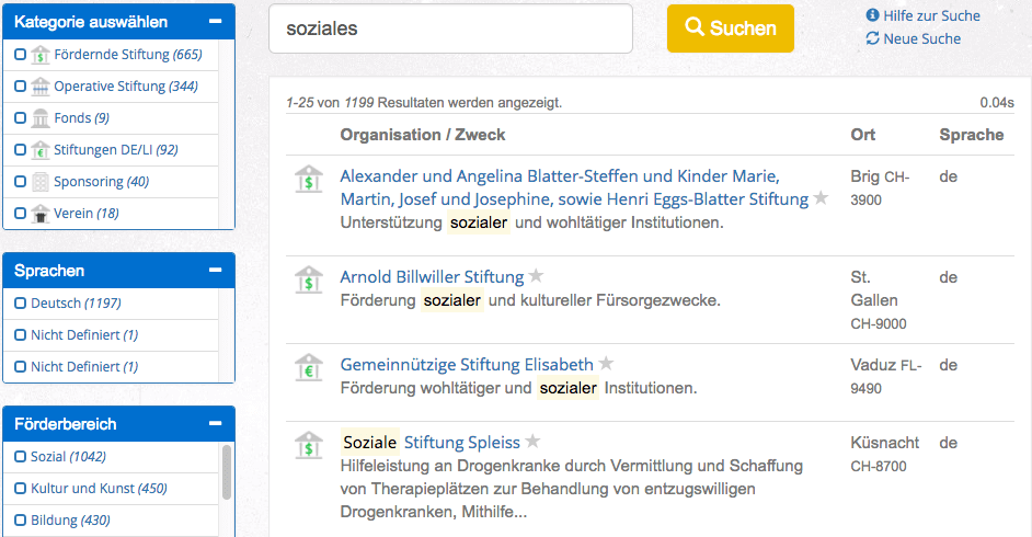 Stiftungsdatenbank