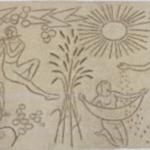 """Restaurierung des Sgraffitos """" die 4 Jahreszeiten """" von H.A. Tomamichel"""